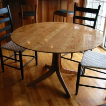 Overall view of the completed table.