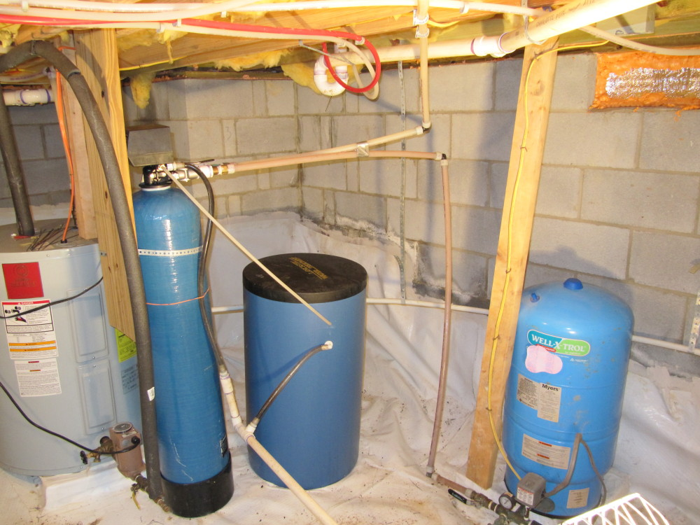 Drainage Water Tanks : New water softener installation at the little house in