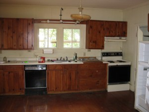 Here is the original kitchen.